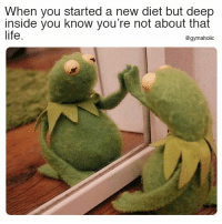 Life, Diet, and Fitness: When you started a new diet but deep  inside you know you're not about that  life.  @gymaholic When you started a new diet  But deep inside you know you're not about that life.  More motivation: https://www.gymaholic.co  #fitness #motivation #gymaholic
