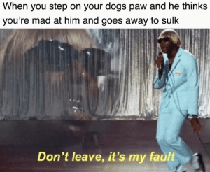 Who's a good boy!?! You are if you invest here and fetch these profits! via /r/MemeEconomy https://ift.tt/2ZtkyUY: When you step on your dogs paw and he thinks  you're mad at him and goes away to sulk  Don't leave, it's my fault Who's a good boy!?! You are if you invest here and fetch these profits! via /r/MemeEconomy https://ift.tt/2ZtkyUY