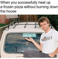 Frozen, Pizza, and Heat: When you successfully heat up  a frozen pizza without burning down  the house  ITALIA Magnifico