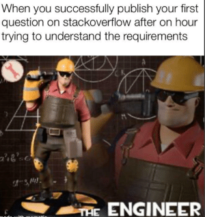 This title does not match the requirements: When you successfully publish your first  question on stackoverflow after on hour  trying to understand the requirements  ae'  TAE ENGINEER This title does not match the requirements