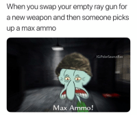 Memes, Zombies, and 🤖: When you swap your empty ray gun for  a new weapon and then someone picks  up a max ammO  IG: PolarSaurusRex  Max Ammo! Anyone else prefer cod waw zombies to CoD ww2
