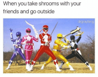 Dank Memes, Shrooms, and Shroom: When you take shrooms with your  friends and go outside  drgrayfang @drgrayfang with another instant classic meme