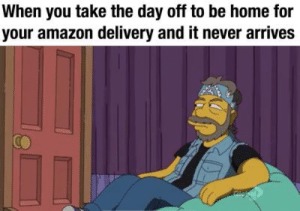 Amazon, Memes, and Tumblr: When you take the day off to be home for  your amazon delivery and it never arrives More of the best memes at http://mountainmemes.tumblr.com
