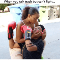 Ass, Memes, and Phone: When you talk trash but can't fight... TAG A FRIEND 😂 ‼️ So my cousin @natalie.odell told me a girl was picking on her .. But this bih had to leave out that it was KO's (@patdlucky) BIG ass 🙄. What was I suppose to do against her tall ahh ???😩➖➖➖➖➖➖➖➖ ft @courtneyrmitchell @denise.rodri @gabrielabandy FILMED BY: @itsjetography @jalenjetturner ➖➖➖➖➖➖➖➖ Shorts: @papa_smurrf phone: @wolfwireless