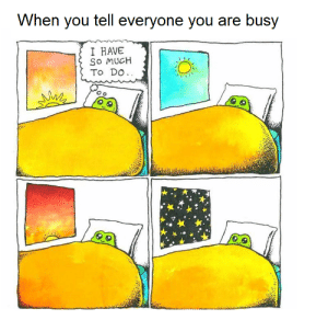 Meirl by Radish00 MORE MEMES: When you tell everyone you are busy  I HAVE  So MUCH  To DO. Meirl by Radish00 MORE MEMES