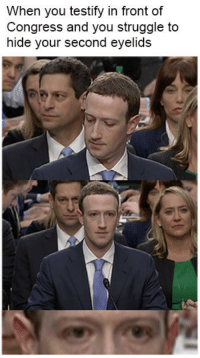 """Dank, Meme, and Struggle: When you testify in front of  Congress and you struggle to  hide your second eyelids <p>Zuckerberk is a Snek via /r/dank_meme <a href=""""https://ift.tt/2qlsZ5o"""">https://ift.tt/2qlsZ5o</a></p>"""