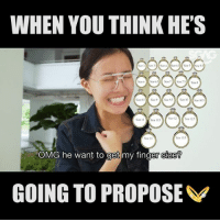 """Be Like, Memes, and Omg: WHEN YOU THINK HE'S  Sue b  Size 0.5  Sue 7  Size 7.5  Size s  Size 12、  Size 125  Sire 13  Sze 135  OMG he want to get my finger size?  0  GOING TO PROPOSE [FULL VIDEO REUPLOADED! WATCH HERE NOW!] This has gotta be one of the most UNEXPECTED proposals ever!!! Well played Kenny, well played…. watchandlearn If you want to be like Kenny and plan your own """"proposal"""", check out link in bio!! dontsaybojio sp"""