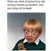 😂😂: When you think of some funny shit  during a fucked up situation, and  you trying not to laugh 😂😂