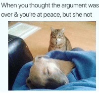 Ass, Crazy, and Funny: When you thought the argument was  over & you're at peace, but she not Tag her crazy ass 🤦🏼♀️