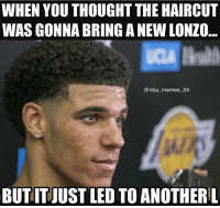Facts 🔥😂 - Follow @_nbamemes._: WHEN YOU THOUGHT THE HAIRCUT  WAS GONNA BRING A NEW LONZO  @nba memes_24  BUTIT JUST LED TO ANOTHERL Facts 🔥😂 - Follow @_nbamemes._