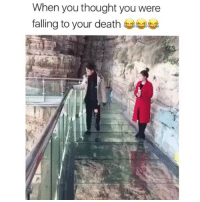 Memes, Wow, and Death: When you thought you were  falling to your death Wow, the woman just looked on and thought wait until the special effects kick in.🤣