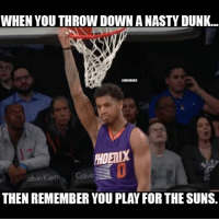 Took all the fun out of it😂: WHEN YOU THROW DOWN A NASTY DUNK...  Colvin  THEN REMEMBER YOU PLAY FOR THE SUNS Took all the fun out of it😂