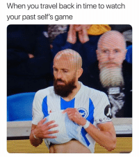 Soccer, Sports, and Game: When you travel back in time to watch  your past self's game 🤯