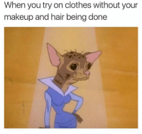 👀: When you try on clothes without your  makeup and hair being done 👀