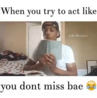 When you try to act like you don't miss Babe 😂😂😩😩: When you try to act like  you dont miss bae  R When you try to act like you don't miss Babe 😂😂😩😩