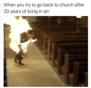 Church, Dank, and Memes: When you try to go back to church after  20 years of living in sin I see you! by shiro_swan MORE MEMES