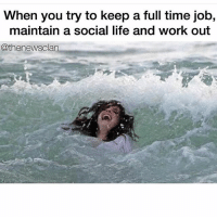 NEVER GROW UP, IT'S A FUCKING TRAP: When you try to keep a full time job,  maintain a social life and work out  @thenewsclan NEVER GROW UP, IT'S A FUCKING TRAP