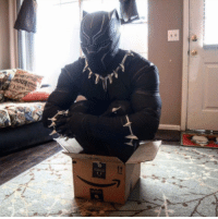 Amazon, Dank, and 🤖: When you try to order Vibranium on Amazon and T'Challa is not pleased.  📷grrrrrryan | TW