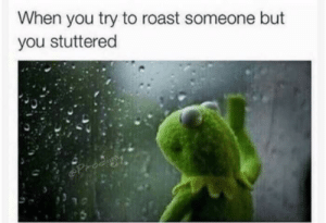 Roast, MeIRL, and You: When you try to roast someone but  you stuttered Meirl