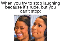 Stop Meme: When you try to stop laughing  because it's rude, but you  can't stop:  so true tumblr.Com