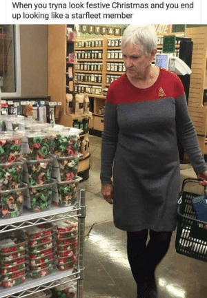 Christmas, Funny, and Santa: When you tryna look festive Christmas and you end  up looking like a starfleet member Beam me up Santa! via /r/funny https://ift.tt/2zD4y8b