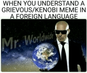 laughoutloud-club:  Hello there: WHEN YOU UNDERSTAND A  GRIEVOUS/KENOBI MEME IN  A FOREIGN LANGUAGE  r. Worldwde laughoutloud-club:  Hello there
