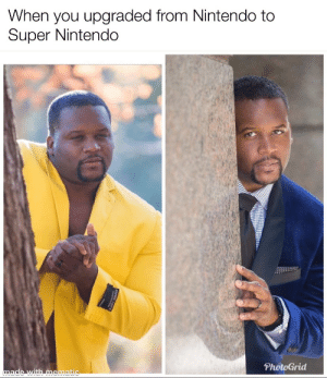 Y'all wild!! 🤣🤣🤣🤣🤣 https://t.co/reAqCdet5C: When you upgraded from Nintendo to  Super Nintendo  PhotoGrid  made with mematic  SUPEA Y'all wild!! 🤣🤣🤣🤣🤣 https://t.co/reAqCdet5C
