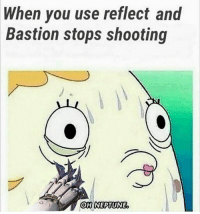 When you use reflect and  Bastion stops shooting  OH NEPTUNE Wan't to learn to make your own games?! Entry level game developer salaries are $50,000 on average! Check out the link in my BIO to start learning!