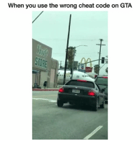 Funny, Twitter, and Gta: When you use the wrong cheat code on GTA  nalds Need answers 😂😂 👉🏽(via: garqnik-twitter)
