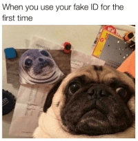 Fake ID: When you use your fake ID for the  first time