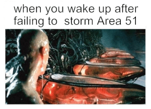 What if they capture us?: when you wake up after  failing to storm Area 51 What if they capture us?