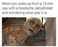 Like The Meme Train for more dank memes...: When you wake up from a 15 min  nap with a headache, dehydrated  and wondering what year it is Like The Meme Train for more dank memes...