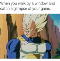 Memes, 🤖, and Window: When you walk by a window and  catch a glimpse of your gains. 💪💪 @gymmotivation