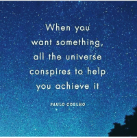 Memes, Buddha, and Help: When you  want something  all the universe  conspires. to help  you achieve it  O.U  PAULO COBLHO Manifest it. Meditate on it. Go get it! wearespiritual buddha zen loa followyourdreams manifest meditate awareness spiritualawakening gogetter