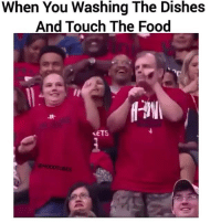 Food, Funny, and Touch: When You Washing The Dishes  And Touch The Food  AaN  、ETS Brah 😂😂😂
