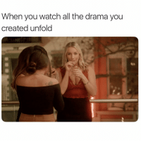 Mtv, Watch, and Girl Memes: When you watch all the drama you  created unfold Living. For. It. So excited for an all new @PrettyLittleMamas on @mtv this Thursday at 9-8c PrettyLittleMamas ad