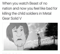 child soldiers: When you watch Beast of no  nation and now you feel like bad for  killing the child soldiers in Metal  Gear Solid V