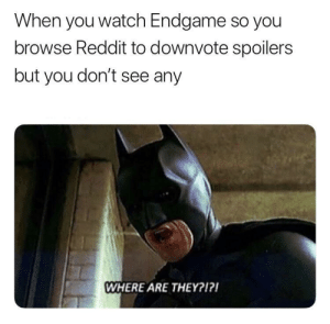 Seems like they got snapped by eduve1708 MORE MEMES: When you watch Endgame so you  browse Reddit to downvote spoilers  but you don't see any  WHERE ARE THEY?1? Seems like they got snapped by eduve1708 MORE MEMES