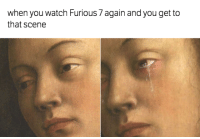 when you watch Furious 7 again and you get to  that scene Right in the feels 😓 Car Throttle
