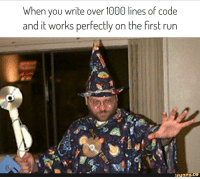 Yer a Wizard: When you write over 1000 lines of code  and it works perfectly on the first run  ifunny.ce Yer a Wizard