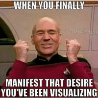 What are u manifesting right now? 👇🏻👇🏻👇🏻👇🏻: WHEN YOUFINALLY  YouAreCreators.o  MANIFEST THAT DESIRE  YOU'VE BEEN VISUALIZING What are u manifesting right now? 👇🏻👇🏻👇🏻👇🏻