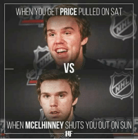 Tag Some Oilers & Leafs Fans!😂😂😂 DOUBLE TAP IF YOU LOVE HOCKEY!: WHEN YOUGET PRICE PULLED ON SAT  VS  WHEN MCELHINNEY SHUTS YOU OUT ON SUN  HF Tag Some Oilers & Leafs Fans!😂😂😂 DOUBLE TAP IF YOU LOVE HOCKEY!
