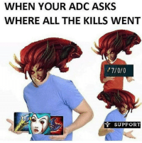 Memes, Twitch, and 🤖: WHEN YOUR ADC ASKS  WHERE ALL THE KILLS WENT  SUPPORT zyra op  = LeagueMemes =  Wingolos www.youtube.com/c/wingolos www.twitch.tv/wingolos