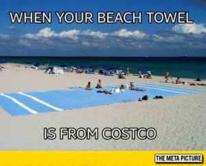 laughoutloud-club:  Good Ol' Costco: WHEN YOUR BEACH TOWEL  r1  IS FROM COSTCO  THE META PICTURE laughoutloud-club:  Good Ol' Costco