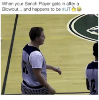 He told the bench to be quiet 💀: When your Bench Player gets in after a  Blowout and happens to be He told the bench to be quiet 💀