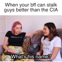 Tag ur friend who's got mad cia skills. Go to @inSPYerdfashion to get these shirts and shop my limited edition collab line (or click the link in bio) to raise money for Dress for Success, brought to you by The SpyWhoDumpedMe starring Mila Kunis and Kate McKinnon - In theaters August 3! ad: When your bff can stalk  guys better than the CIA  Whatisi his namej Tag ur friend who's got mad cia skills. Go to @inSPYerdfashion to get these shirts and shop my limited edition collab line (or click the link in bio) to raise money for Dress for Success, brought to you by The SpyWhoDumpedMe starring Mila Kunis and Kate McKinnon - In theaters August 3! ad