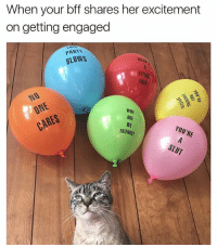 😂👌get them for your shitty friends at @shittyballoonsdotcom 🎉 use code : SATAN15 for 15% off!: When your bff shares her excitement  on getting engaged  PARTY  BLOWS  駁1付  FLYING  FUCK  ARE  WE  FRIENDS? 😂👌get them for your shitty friends at @shittyballoonsdotcom 🎉 use code : SATAN15 for 15% off!
