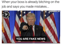 Memes, Militia, and Redneck: When your boss is already bitching on the  job and says you made mistakes.  OKEERAMERICA USA  AMERICA  OUGH  FIREPOWER  YOU ARE FAKE NEWS IGNORE IT! FakeNews ---- Follow my Personal - @JesseRyan.US Follow our Back Up - @KeepAmerica.US Shop today - www.KAAGEAR.com PARTNERS: @too_savage_for_democrats @the_typical_liberal 🇺🇸 KeepAmericaAmerican 🇺🇸 Mudjug™ - @Mudjug Redneck Nation™ - @RedneckNation HillaryForPrison Merica America Trump2016 DonaldTrump Conservative Republican Mudjug Redneck Guns Freedom Politics RedneckNation Patriotism Military AmericanAF Militia FoxNews 1776 1776United SecondAmendment DoubleTap IgMilitia Murica SemperFi USMC you NRA MolonLabe