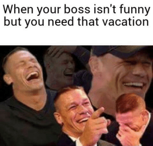 Dank, Funny, and Memes: When your boss isn't funny  but you need that vacation I want that vacation by RWE20 MORE MEMES