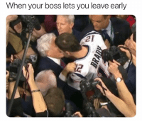 Memes, 🤖, and Boss: When your boss lets you leave early  12 Why does he do this!?